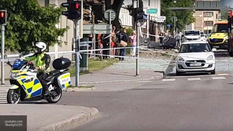 Опубликовано видео с места взрыва в Швеции