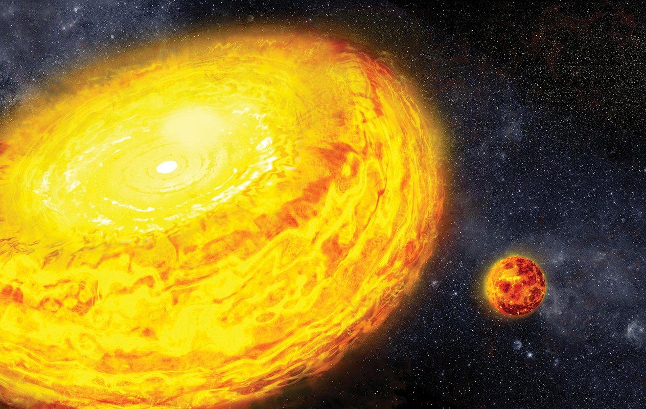 Cоударение планет может уменьшать давление в их недрах