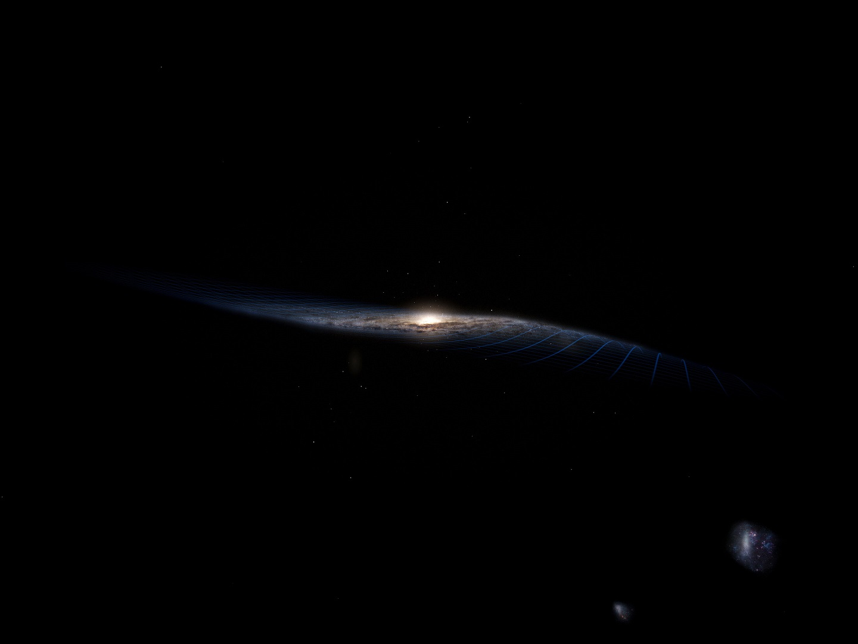 Изгиб Млечного пути – рябь от удара другой галактики