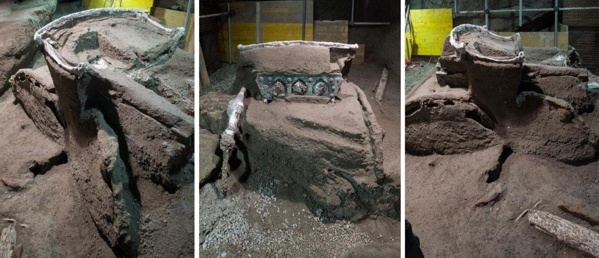 На раскопках виллы эпохи Римской империи под Помпеями найдена парадная повозка